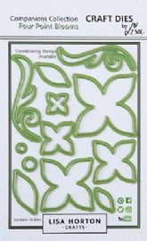 Lisa Horton Crafts Companions Collection - Four Point Blooms Dies